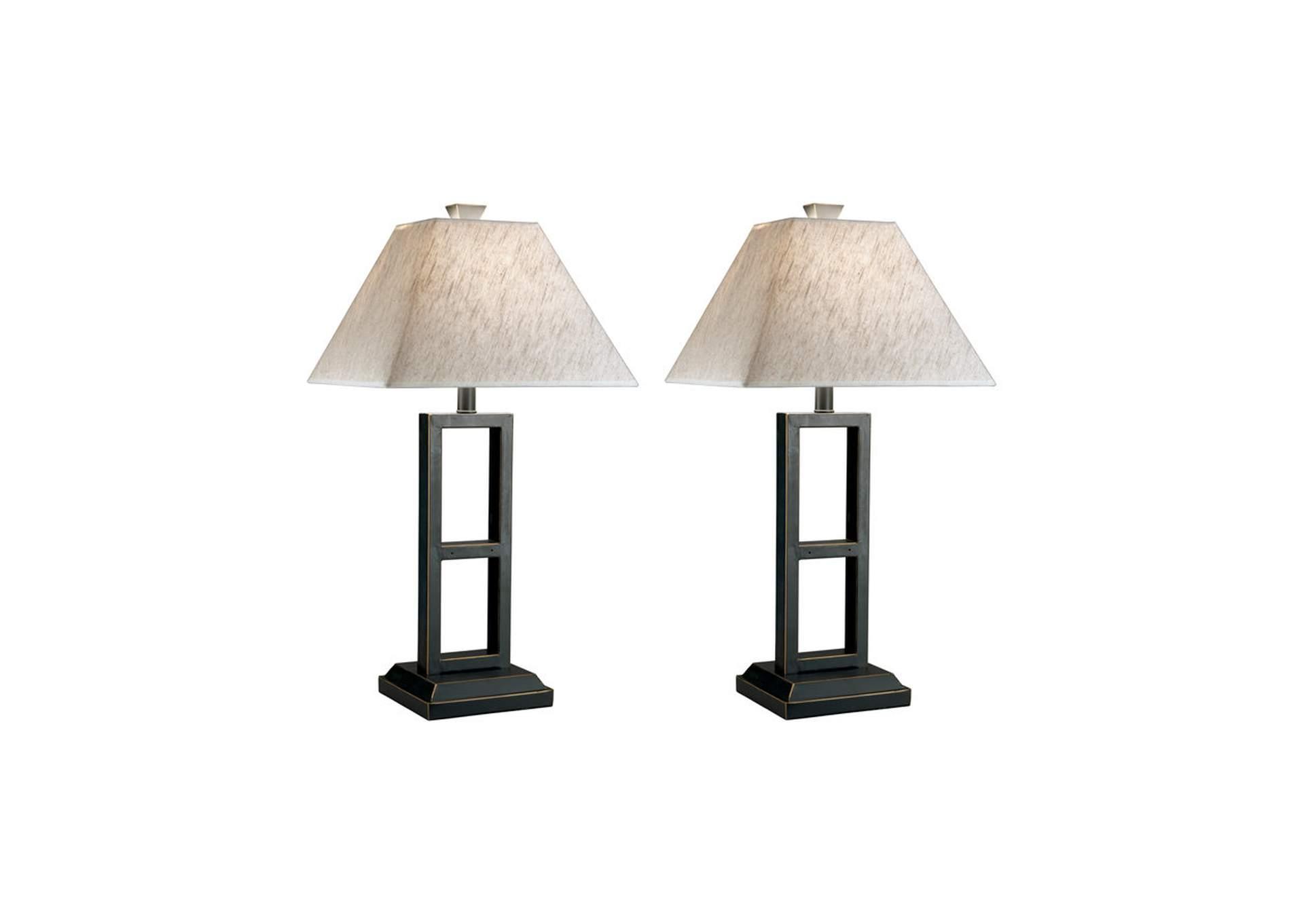Lámpara de mesa Deidra de metal color negro