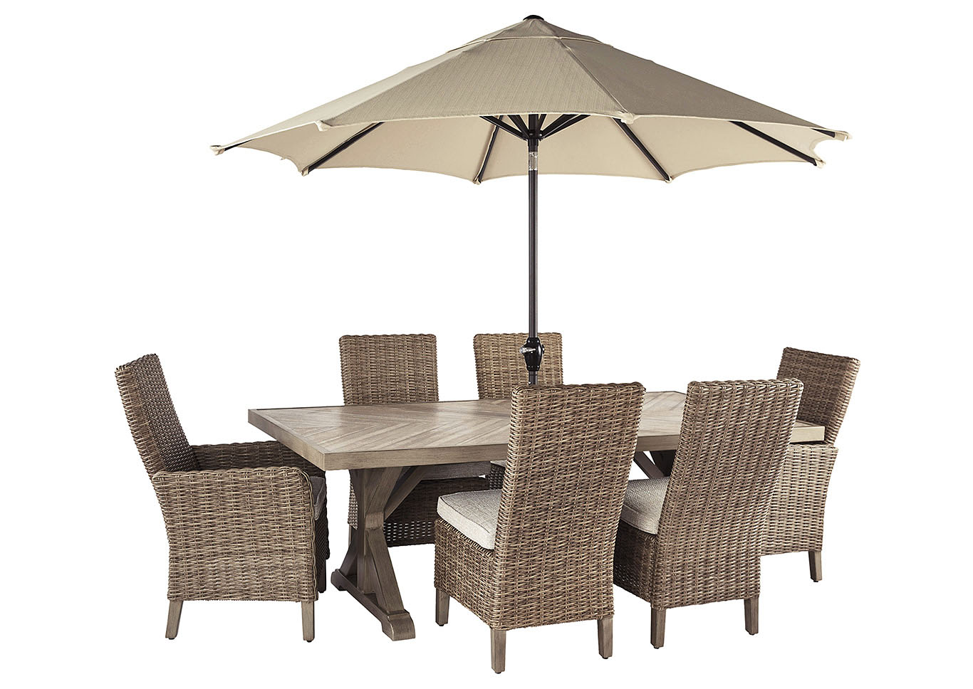 Beachcroft Dining Table W 4 Side Chairs And 2 Armed Chairs Ashley Furniture Homestore Independently Owned And Operated By Hamad M Al Rugaib Sons Trading Co