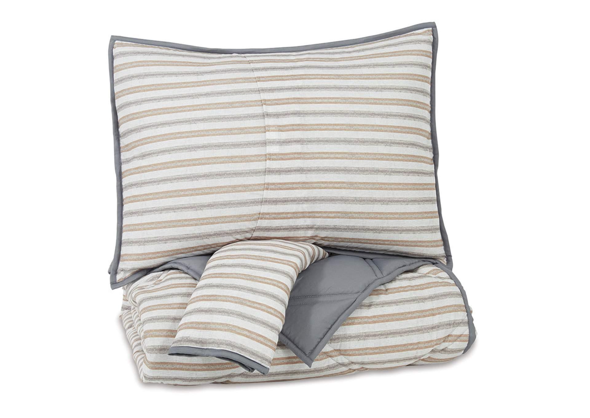 Rhey 3 Piece Full Comforter Set