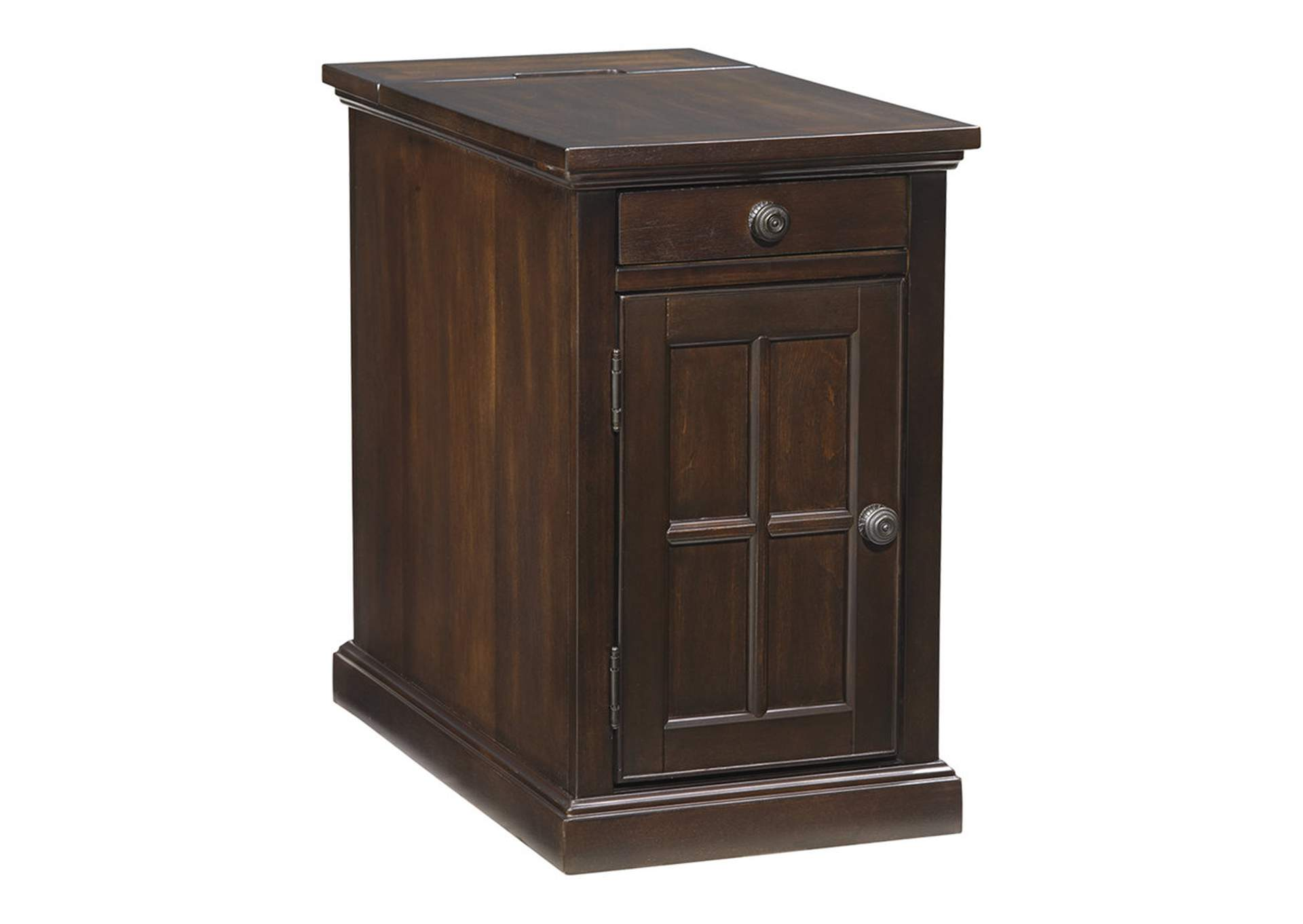 Laflorn Chairside End Table with USB Ports and Outlets