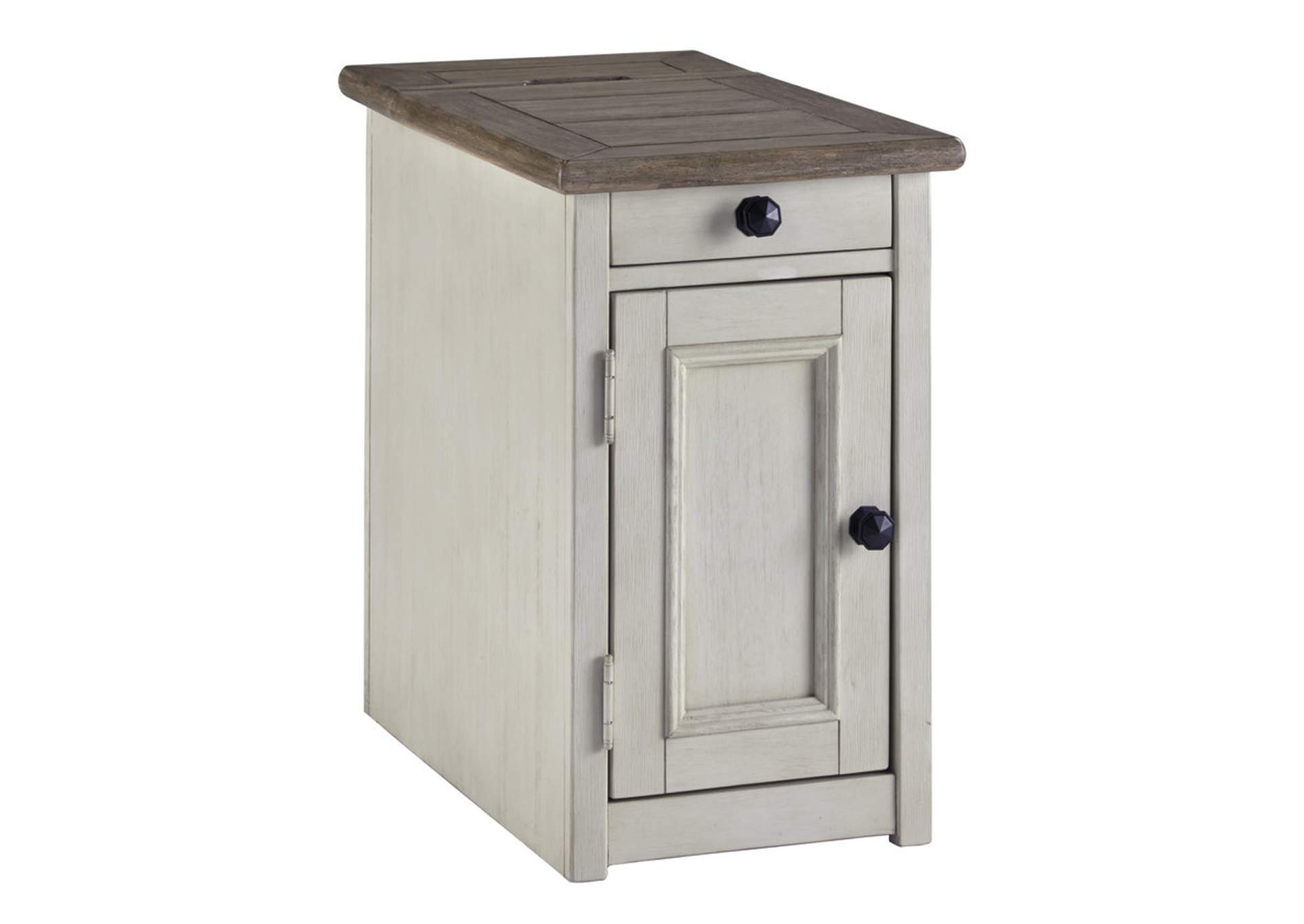 Bolanburg Chairside End Table with USB Ports and Outlets