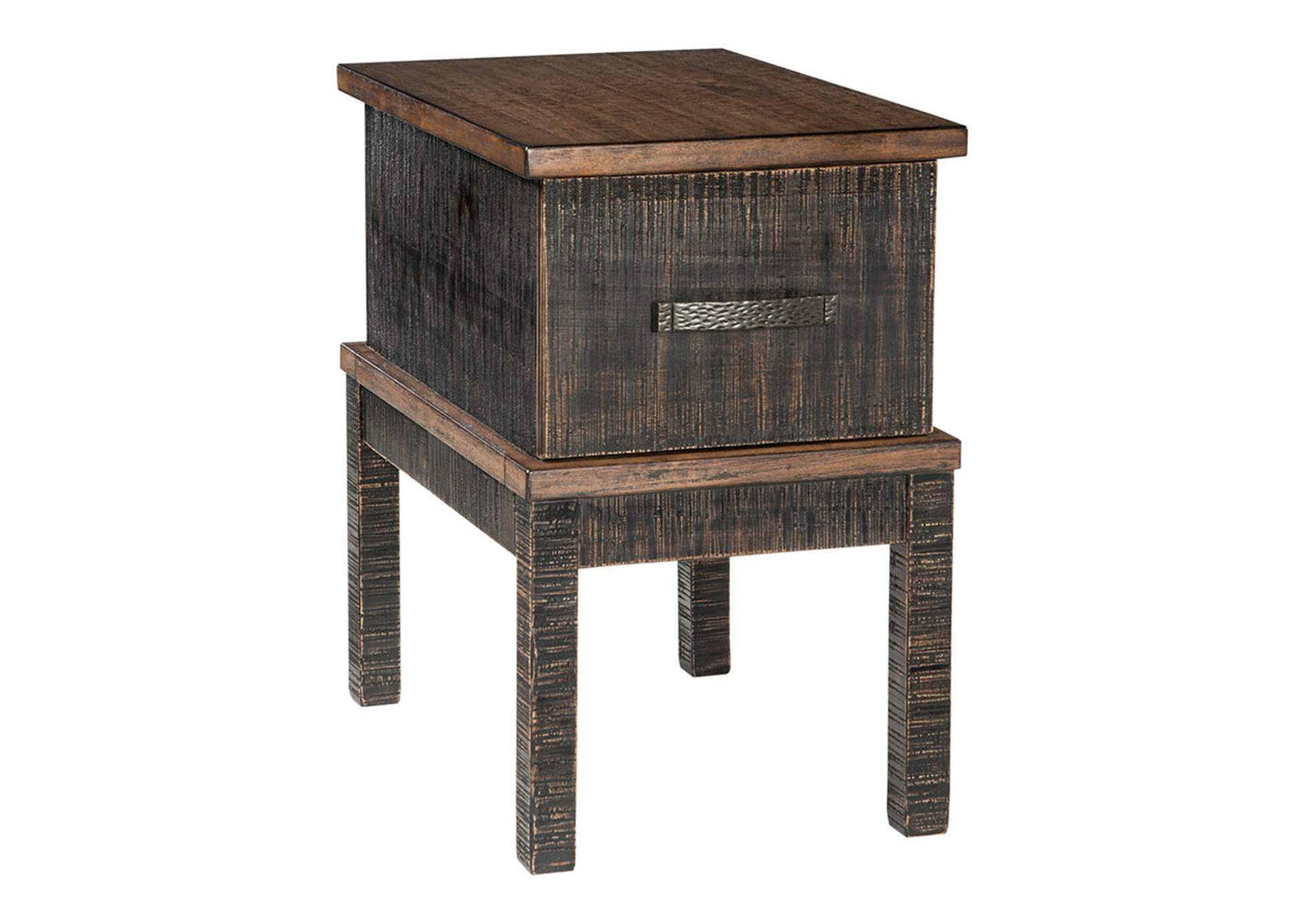 Stanah Chairside End Table with USB Ports and Outlets